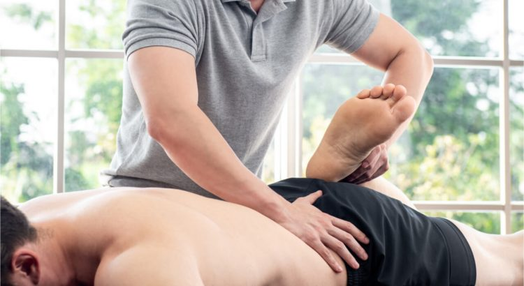 specialist offering chiropractic massage